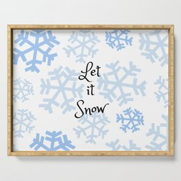 Let it Snow Snowflakes Serving Tray