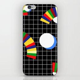Memphis Grid & Rainbows iPhone Skin
