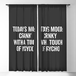 Cranky & Psycho Funny Quote Blackout Curtain
