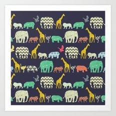 geo zoo Art Print