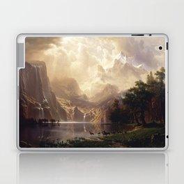 Albert Bierstadt - Among the Sierra Nevada, California Laptop & iPad Skin