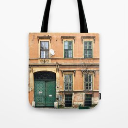 Orange and Green Budapest Facade Tote Bag