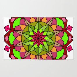 Peace and Love Mandala Rug