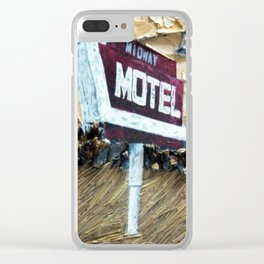 Midway Motel Clear iPhone Case