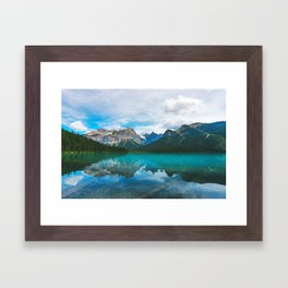 The Mountains and Blue Water - Nature Photography Framed Art Print