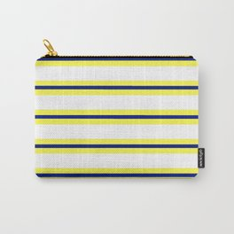 Nautical Yellow, White and Navy, Crisp and Clean Lines Carry-All Pouch