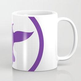 Dove Spreading Wings Circle Coffee Mug