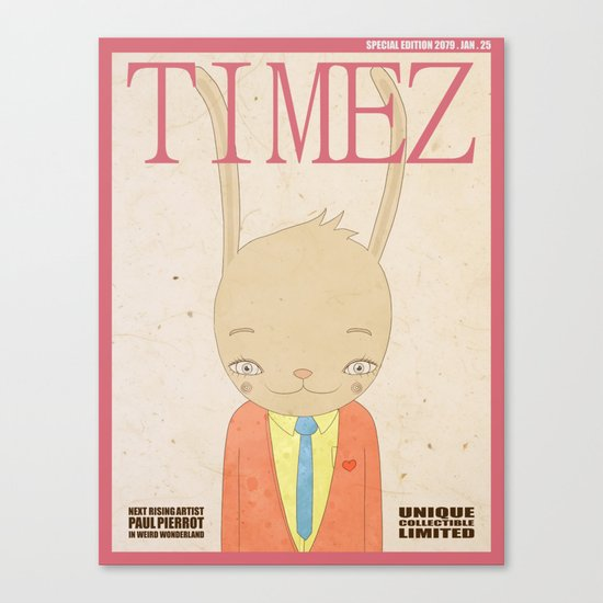 TIMEZ MAGAZINE HUG Canvas Print