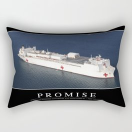 Promise: Inspirational Quote and Motivational Poster Rectangular Pillow