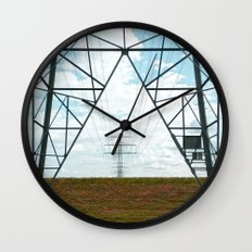 Electric landscape Wall Clock