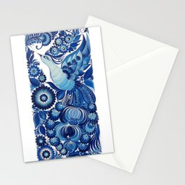 Blue Bird in Petrykivka Style Stationery Cards