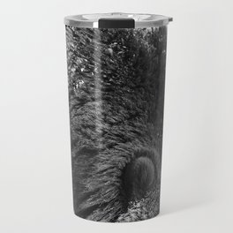 Alaskan Grizzly Bear in Snow, B & W - 2 Travel Mug