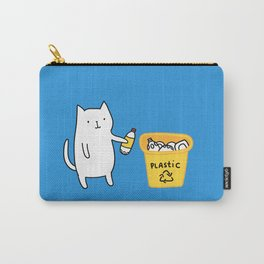 Cat recycles plastic Carry-All Pouch