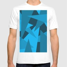 Triangles MEDIUM White Mens Fitted Tee