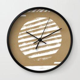 Lines that meet figures - minimal boho Wall Clock