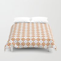 orange pattern Duvet Covers featuring Pattern Orange by Ochre Creative