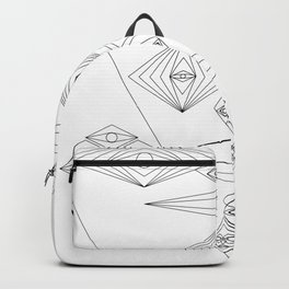 Abstract and Geomtric Faces Backpack
