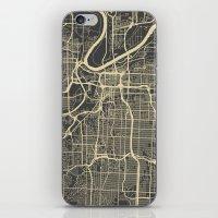 kansas city iPhone & iPod Skins featuring Kansas City map by Map Map Maps