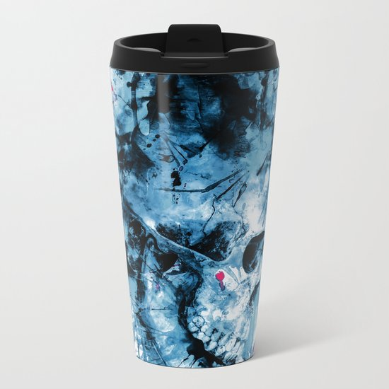 Skull Splash Metal Travel Mug