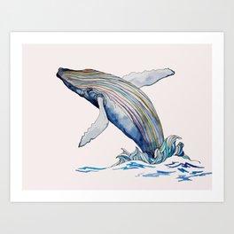 Humpback Whale Art Print