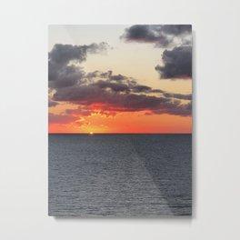 Orange Horizon Metal Print