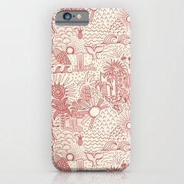 Hawaiian Hula Dancer Toile Red iPhone Case