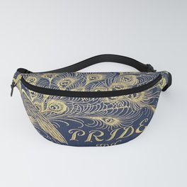 Pride and Prejudice by Jane Austen Vintage Peacock Book Cover Fanny Pack