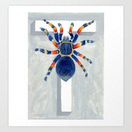 T is for Tarantula  Letter Alphabet Decor Design Art Pattern Art Print