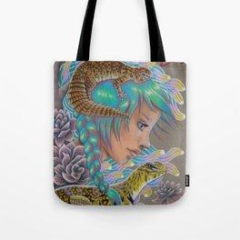 Desert Rose,Uromasyx Lizard Art Tote Bag