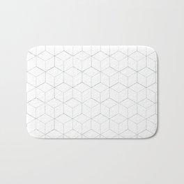 White Grid Bath Mat