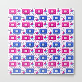 VHS Tapes • White Background Metal Print