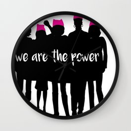we are the power 2017 Wall Clock