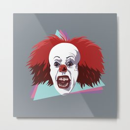 Evil clown it halloween Metal Print