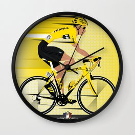 France Yellow Jersey Wall Clock