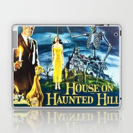 House on Haunted Hill, vintage horror movie poster Laptop & iPad Skin