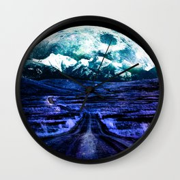 Highway to Eternity (moon mountain) Wall Clock