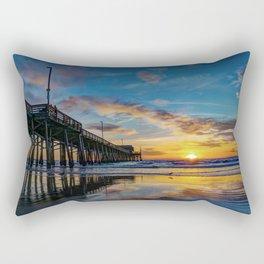 December Colors at Newport Pier. Rectangular Pillow