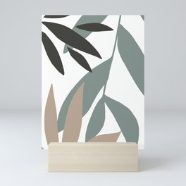 Abstract Modern Leaves II Mini Art Print