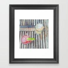 Summer Drinks Framed Art Print