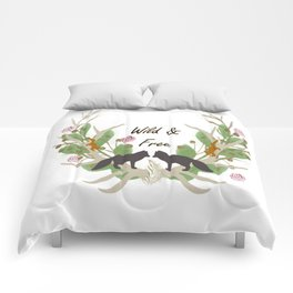 Wild and Free Fall Animals Comforters