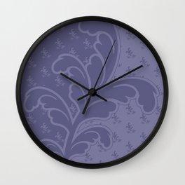 Ferny - Mauve Wall Clock