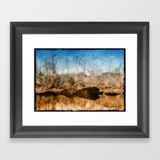 River Bokeh Framed Art Print