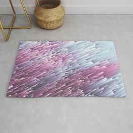 Serenity and Rose Glitches Rug