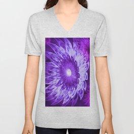 Fantasy Flowers Purple Unisex V-Neck