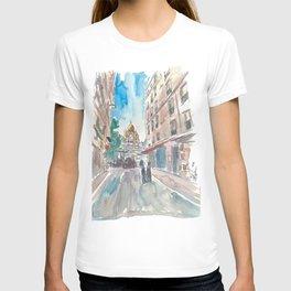 Paris France Montmartre Sacre Coeur Street Scene T-shirt
