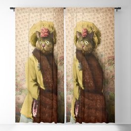 Lady Vanderkat with Roses Blackout Curtain
