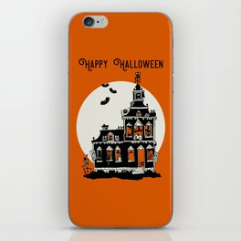 Vintage Style Haunted House - Happy Halloween iPhone Skin