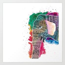 Elepaint Art Print