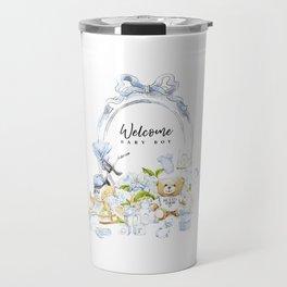 Baby Boy Print Travel Mug