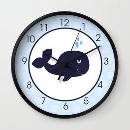 Blue Whale Wall Clock No name Wall Clock